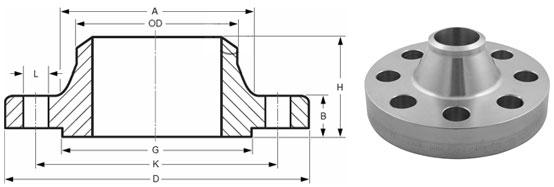 Flange Dimensions Pn16 Dimensions Weld Neck Flanges